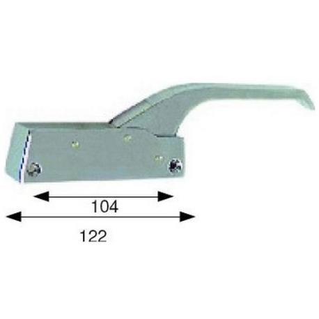 TIQ4092-POIGNEE PORTE 122MM SANS CLE