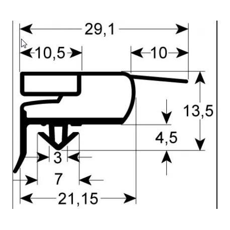 270232-JOINT MAGNETIQUE L:580MM L:407MM
