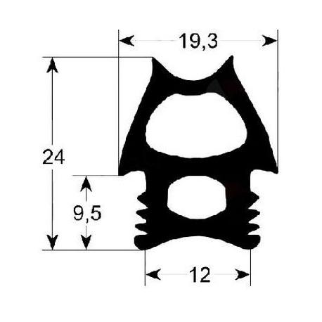 TIQ11592-JOINT DE PORTE DE FOUR L:1365MM L:485MM