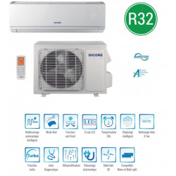 CLIMATISEUR INVERTER R410 MONO SPLIT 2700W 220-240V