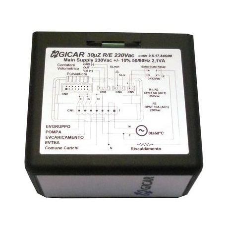 TEVQ058-CENTRALE DE NIVEAU GICAR AVEC MICROPROCESSEUR 30UZ R/E 230V