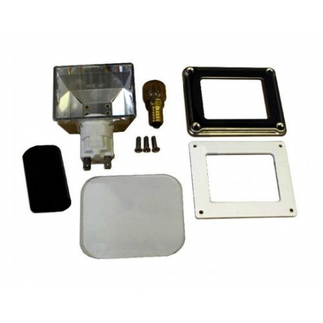 TIQ11619-SUPPORT COMPLET AVEC AMPOULE 15W 230V 85X70MM EXT