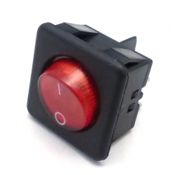 BOUTON M/A ROUGE 4 PLOTS ROND