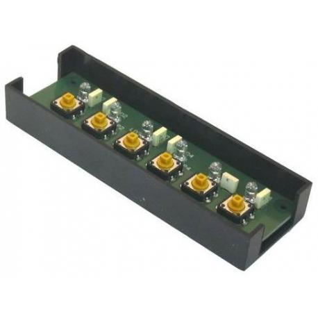 ERQ092-CLAVIER 6 TCH 2/3G VIVA S CPLT LED BLEUES EAU CHAUDE