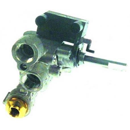 TIQ6484-ROBINET GAZ POUR FOURNEAU 600 AVEC MICRO INTERRUPTEUR RAC TC
