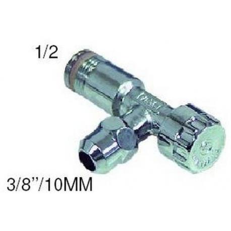TIQ2407-ROBINET D`ANGLE ENTREE 1/2M SORTIE 3/8/10MM