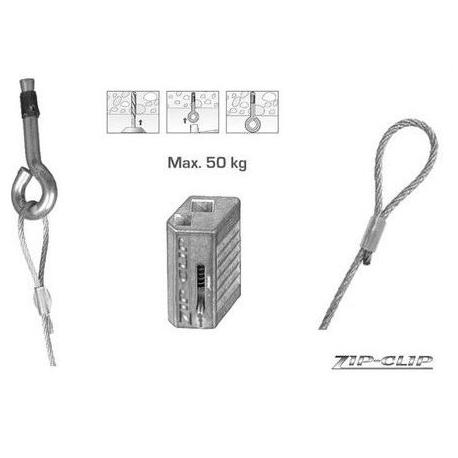 SEQ165-SYSTEME DE SUSPENSION AVEC ANCRE BETON -3 METRES- 10PIECES