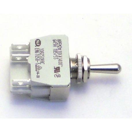 TIQ11744-INTERRUPTEUR A LEVIER M12X0.75 2POLES 250V 15A