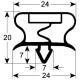 SFQ6558-JOINT MAGNETIQUE A ENCASTRER L:1540MM L:625MM