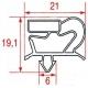VFQ6566-JOINT POUR DESSERTE GASTRO DE PORTE L:630MM L:400MM ORIGINE