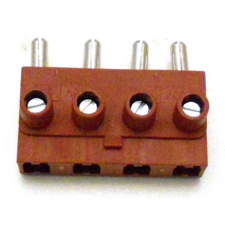 TIQ4223-CONNECTEUR MALE 16A 450V 120°C 4 POLES