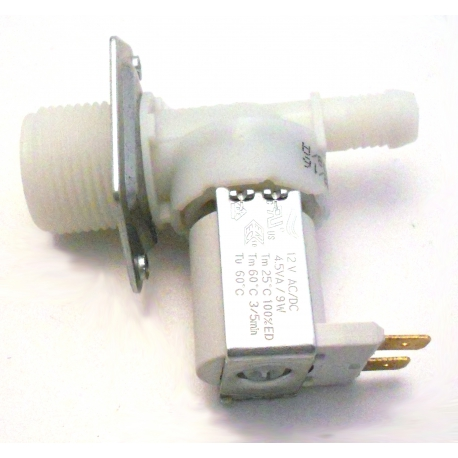 TIQ9390-ELECTROVANNE 1VOIE 9W 12V AC ENTREE 3/4M SORTIE 10MM