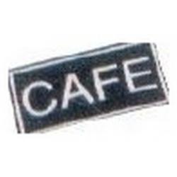 LOT DE 10 ETIQUETTES ADHESIVES CAFE