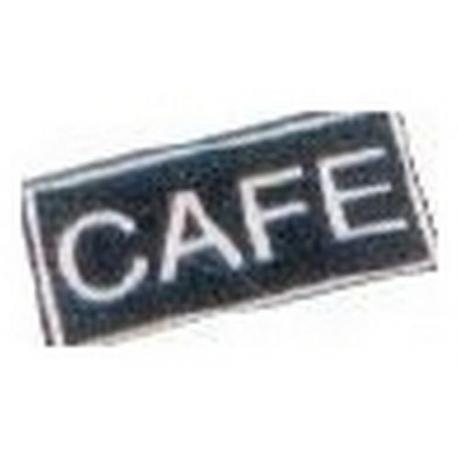 IQ7046-LOT DE 10 ETIQUETTES ADHESIVES CAFE