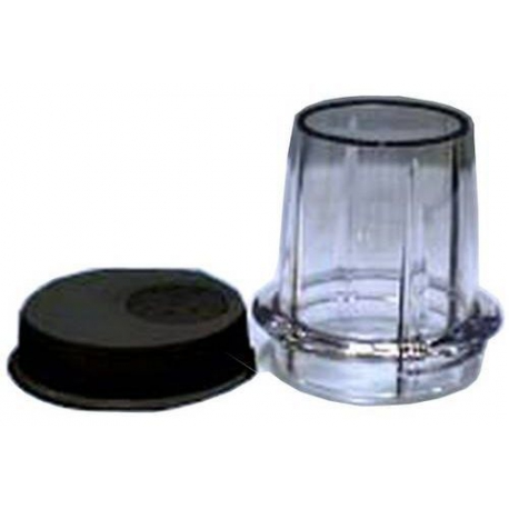 XRQ2918-MILL JAR + LID BLACK BL338
