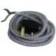 XRQ0983-POWERCORD GREY GB PLUG ORIGINE