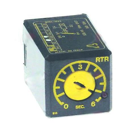 SBQ7649-RELAIS TEMPORISE RTR12DS06S 230V 50HZ 6SEC