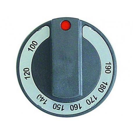 46509-MANETTE NOIRE 77MM SNACK TMINI 100°C TMAXI 190°C ORIGINE