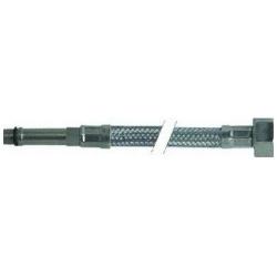 FLEXIBLE COLONNE LONGUE L500MM INOX ENTREE 1/2F SORTIE M10X1