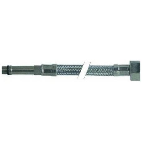 ITQ763-FLEXIBLE COLONNE LONGUE L500MM INOX ENTREE 1/2F SORTIE M10X1