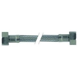 FLEXIBLE INOX 1/2FX1/2F PLAT AVEC JOINT LG:1500MM PLASTIFIE