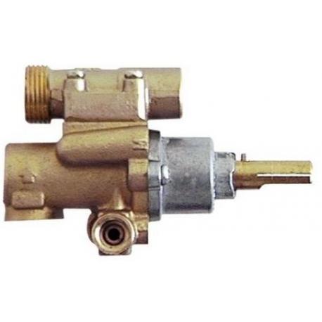 TNQ703-ROBINET GAZ PEL 22/O AVEC BRIDE HORIZONTALE AXE 10X8MM