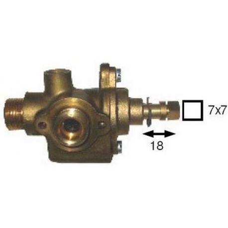 TNQ862-ROBINET GAZ MORICE TIGE 17MM