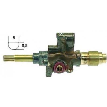 TNLQ6578-ROBINET SABAF GAZ POUR PLAQUE EUROPA 60-90 RAC TC M8X1 ENTRÉ
