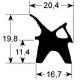 TIQ65222-JOINT DE PORTE 730X765MM ORIGINE LAINOX