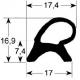 TIQ65370-JOINT DE PORTE 6 1/1 585X395MM
