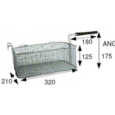 TIQ66554-PANIER DE FRITEUSE 320X210X125