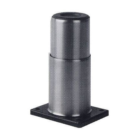 TIQ66955-PIED INOX H115MM PLAQUE:100X80