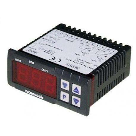 TIQ66221-THERMOSTAT TECNOLOGIC TLK38FCRR PT100 TCJ/K/S 12V AC/DC