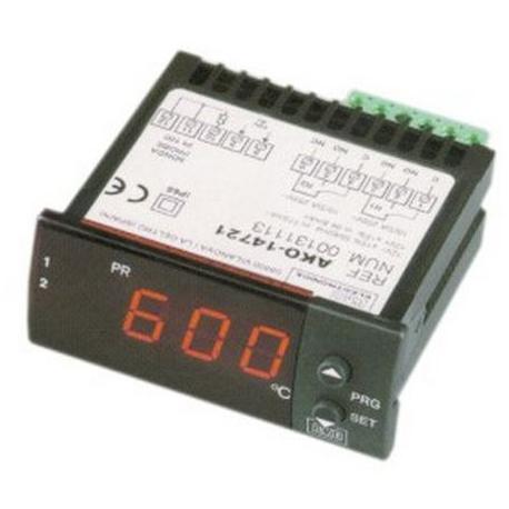 TIQ66224-REGULATEUR AKO 14721 PT100 12V AC/DC TMINI -50°C TMAXI 600°C