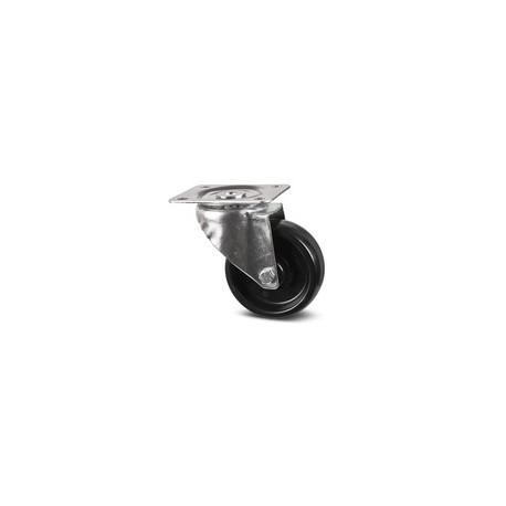 TIQ60252-ROULETTE PIVOTANTE D80MM NOIRE
