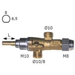 ROBINET GAZ PEL 20S RAC TC M8X1