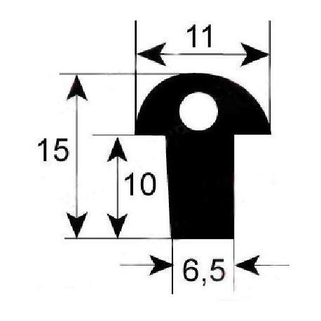 TIQ64832-JOINT PORTE DE FOUR L:1410MM