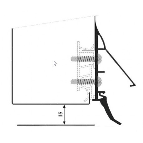 TIQ63258-JOINT RACLEUR CAOUTCHOUC NOIR EN LONGUEUR DE 1.5M