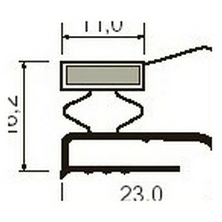 TIQ63980-JOINT PLAT BLANC AIMANTE PAR