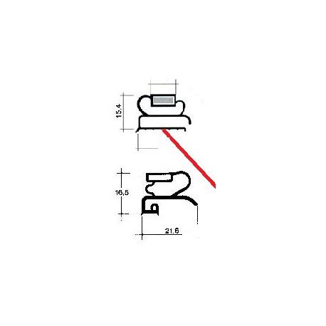 TIQ62063-CADRE BLANC 610X450MM HORSTOUT