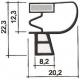 TIQ62866-PROFIL PVC A CLIPSER L 2.55M