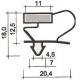 TIQ62867-PROFIL PVC A CLIPSER L 2.55M