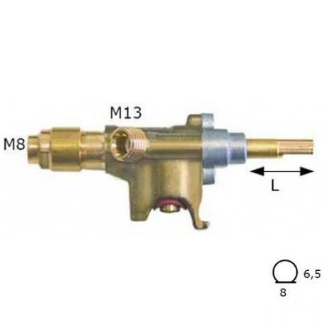 TIQ6327-ROBINET GAZ AVEC BRIDE DE SORTIE RACCAODEMENT POUR TUBE 8MM