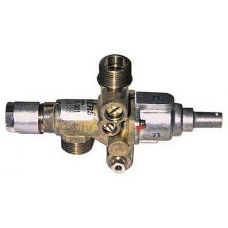 TIQ6486-ROBINET GAZ JUNKERS CH110 ENTREE/SORTIE 1/2M RAC TC M8X10 DI