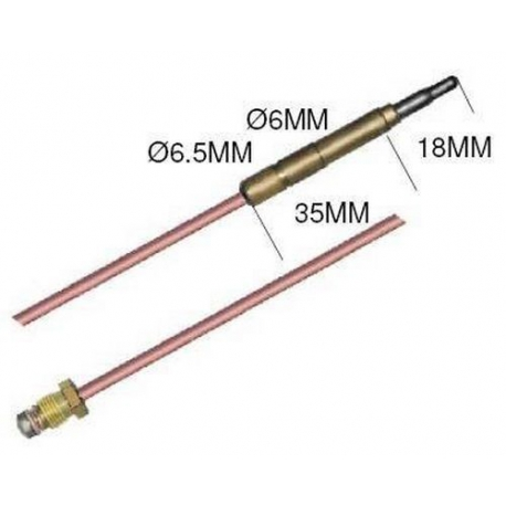TIQ6444-THERMOCOUPLE SIT LISSE M9X1 L:1200MM ORIGINE