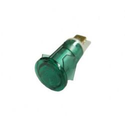 LAMPE TEMOIN VERT 230V D12MM