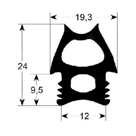 TIQ64969-JOINT PORTE DE FOUR 695X485MM
