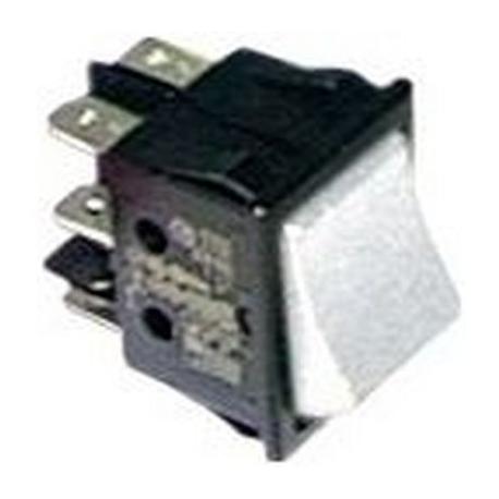 TIQ665564-INTERRUPTEUR BLANC 2 POLES LUMINEUX 250V 16A