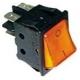 TIQ665576-POUSSOIR 2 POLES LUMINEUX 250V 16A L:30MM H:22MM ORANGE 4PLO
