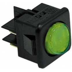 INTERRUPTEUR 27.8X25MM VERTLUMINEUX 250V 16A 2CO